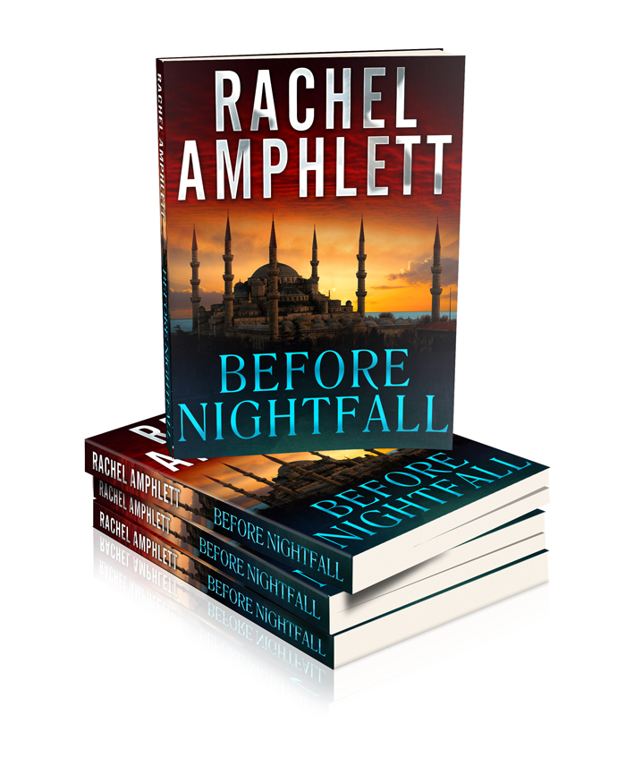 Before Nightfall mock book stack